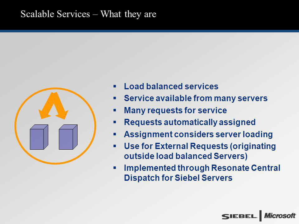 Scalable Services – What they are   Load balanced services   Service available from many servers   Many requests for service   Requests automa