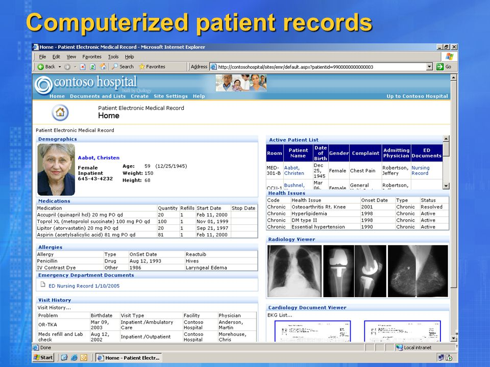 Computerized patient records