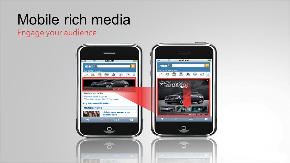 BG Mobile rich media Engage your audience