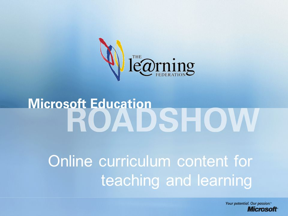 Online curriculum content for teaching and learning