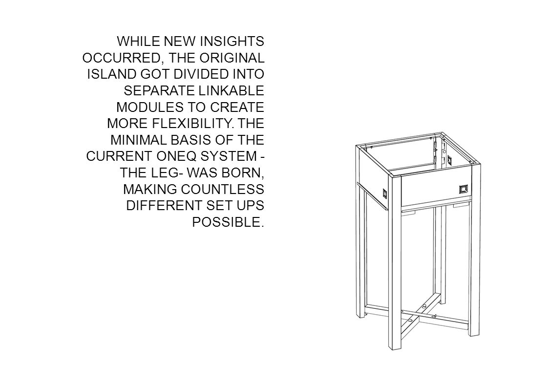 WHILE NEW INSIGHTS OCCURRED, THE ORIGINAL ISLAND GOT DIVIDED INTO SEPARATE LINKABLE MODULES TO CREATE MORE FLEXIBILITY.