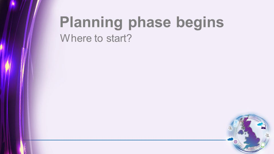 Where to start Planning phase begins