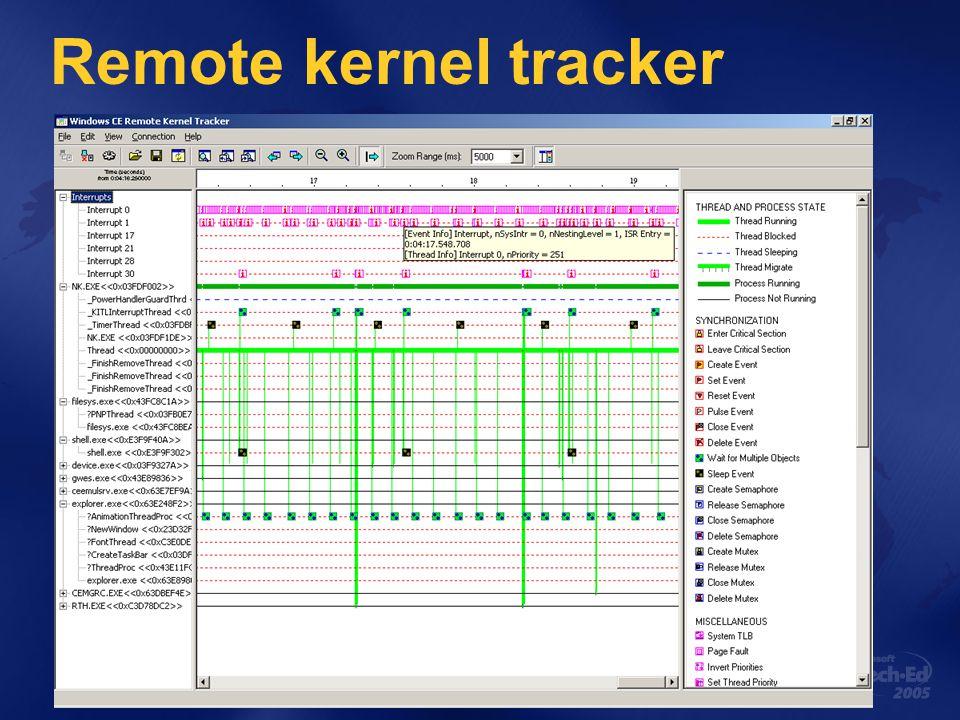 Remote kernel tracker