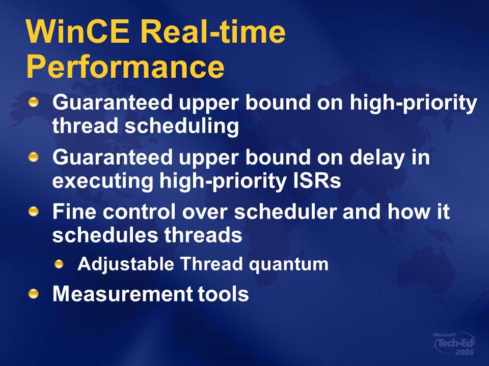 System Response times Predictable factors - processor, clock, bus speed Unpredictable Processor cache IST is current thread.