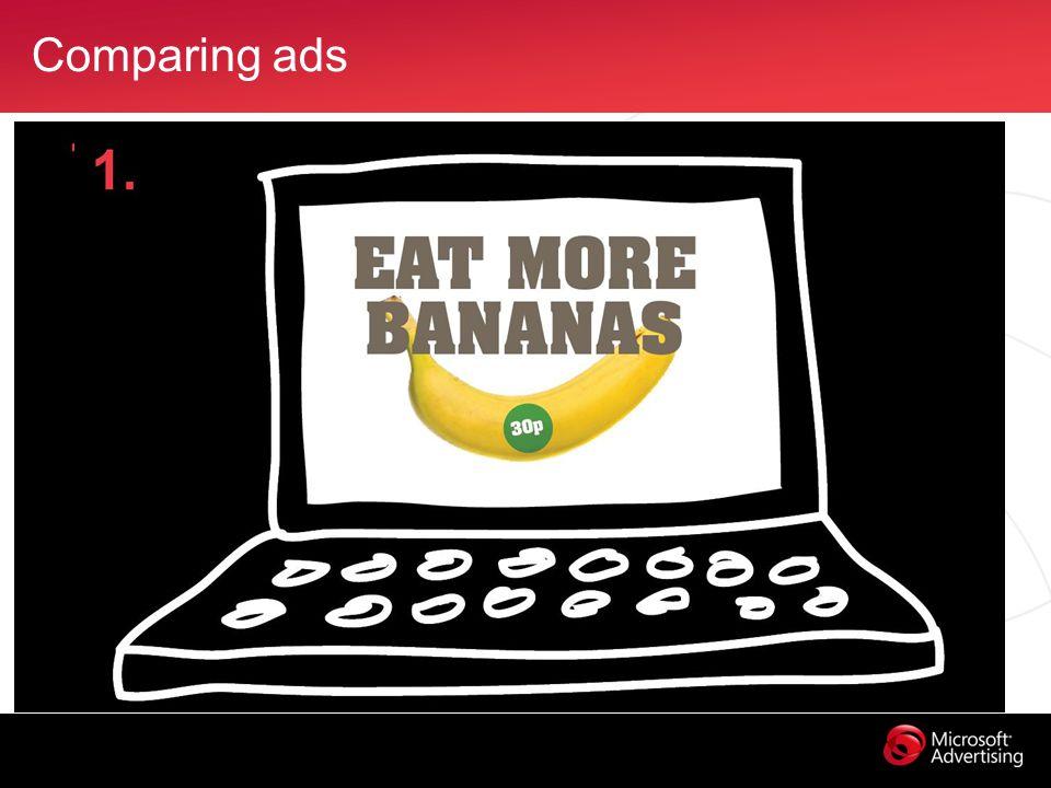 Comparing ads