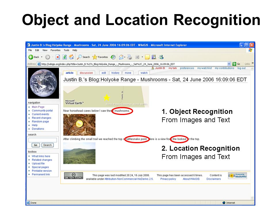 1. Object Recognition From Images and Text 2.