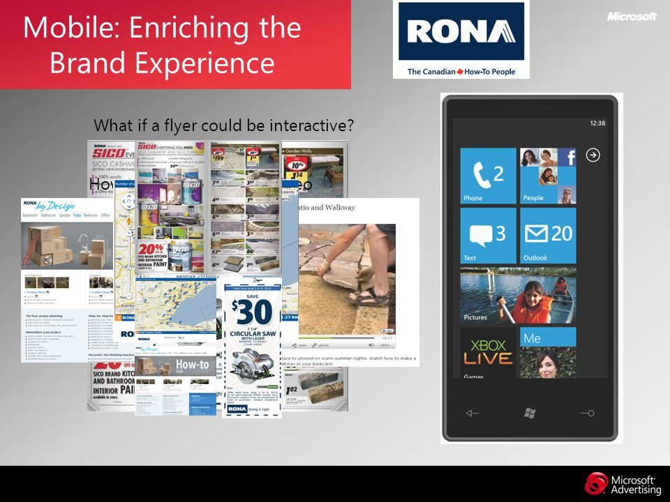What if a flyer could be interactive? Mobile: Enriching the Brand Experience How to Guide & How to video Store Locator Coupon