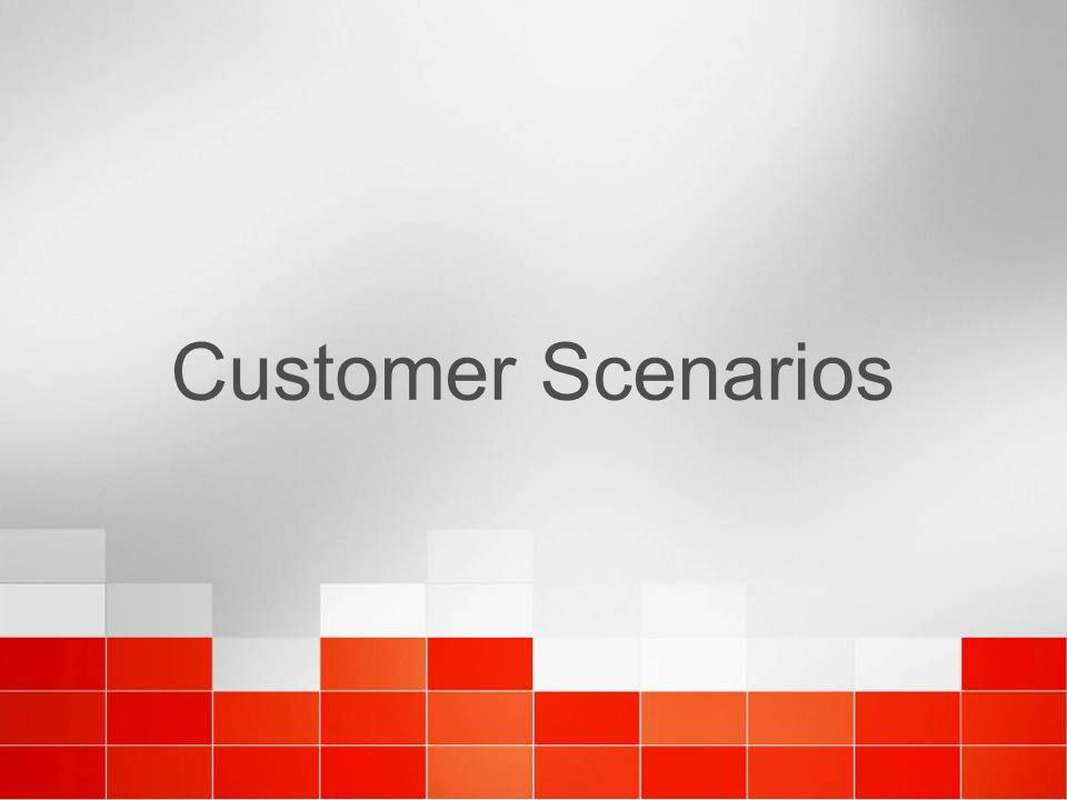 Customer Scenarios