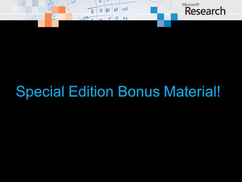 Special Edition Bonus Material!