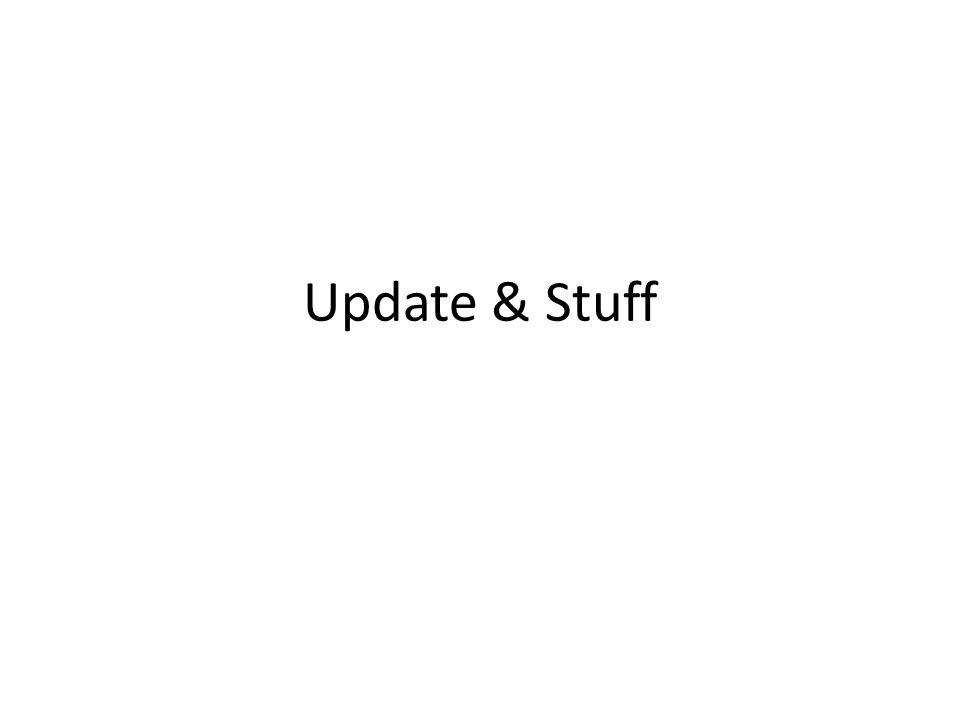 Update & Stuff