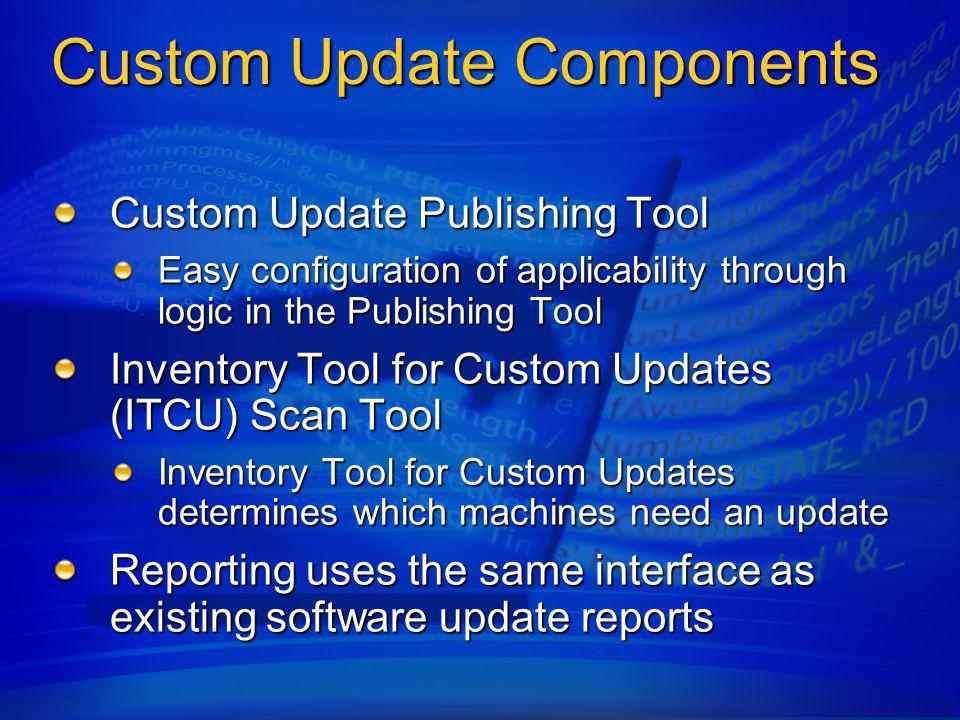 Microsoft Update Catalog SMS PublishingTool ISV / OEM Catalogs InternalApplicationCatalogs