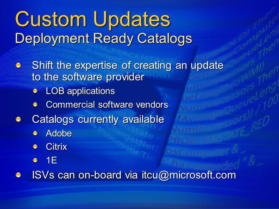 SMS 2003 R2 Custom Updates
