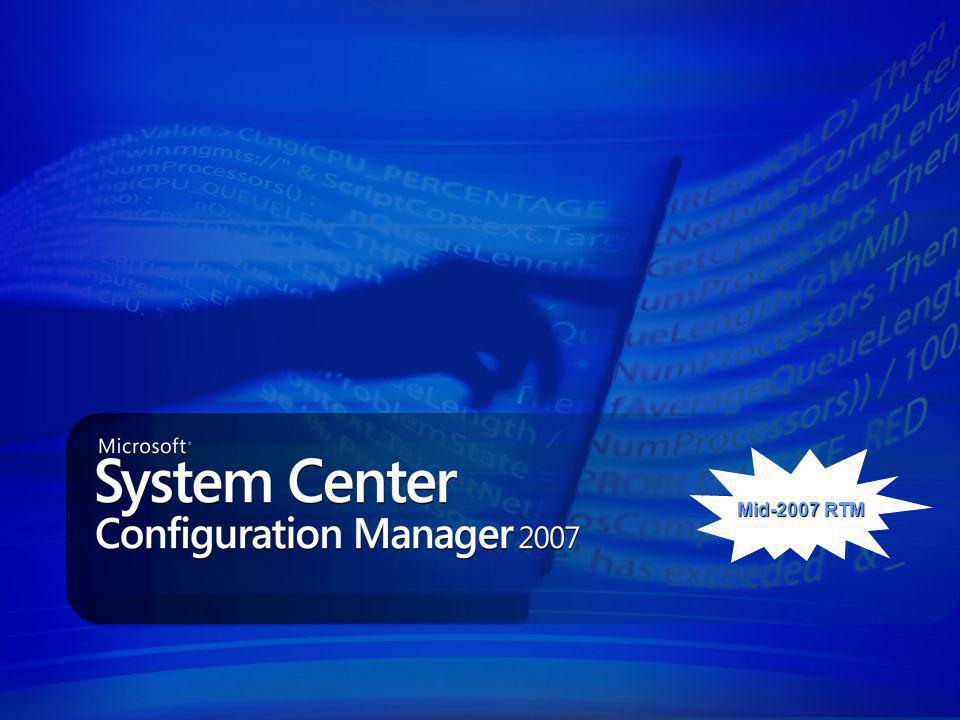 Reduce Configuration Management Infrastructure Costs Simplified UI and Installation Simplified UI and Installation Branch office support Branch office support Greater levels of control (Scheduling, WoL) Greater levels of control (Scheduling, WoL) Built on Windows Management Infrastructure Built on Windows Management Infrastructure Simplicity Knowledge Driven Configuration Management IT policies for analyzing corporate and regulatory compliance IT policies for analyzing corporate and regulatory compliance Out of the box configuration policies for server workloads e.g.