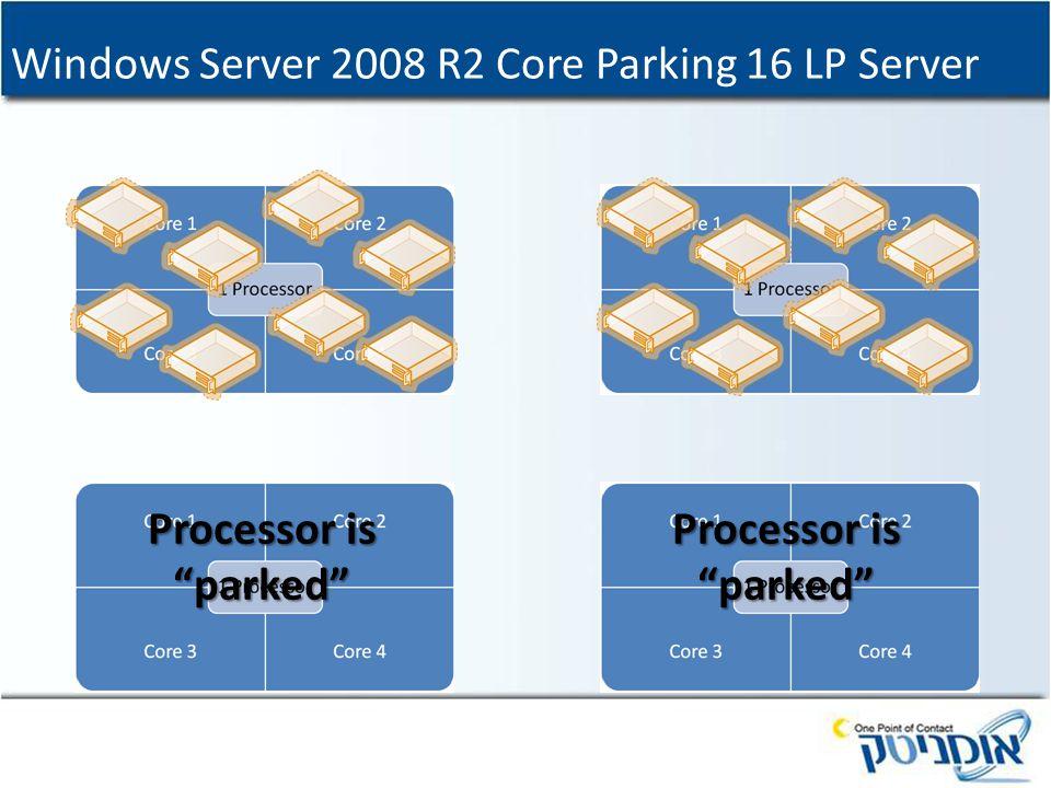Windows Server 2008 R2 Core Parking 16 LP Server