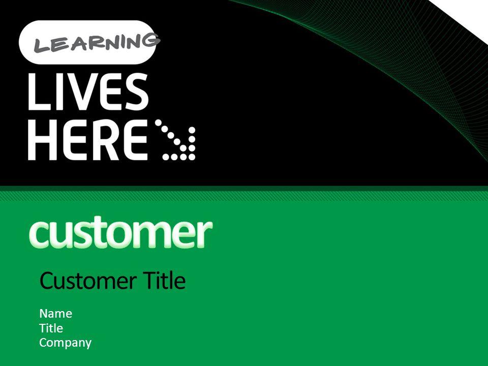 Customer Title Name Title Company