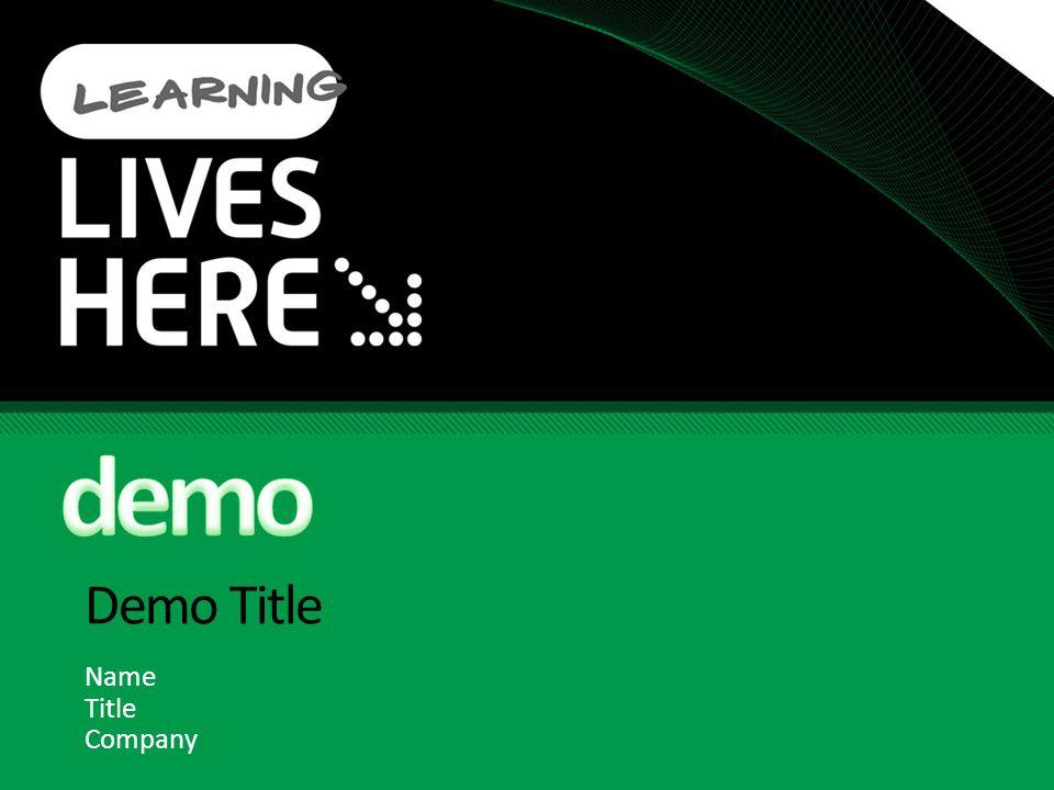 Demo Title Name Title Company