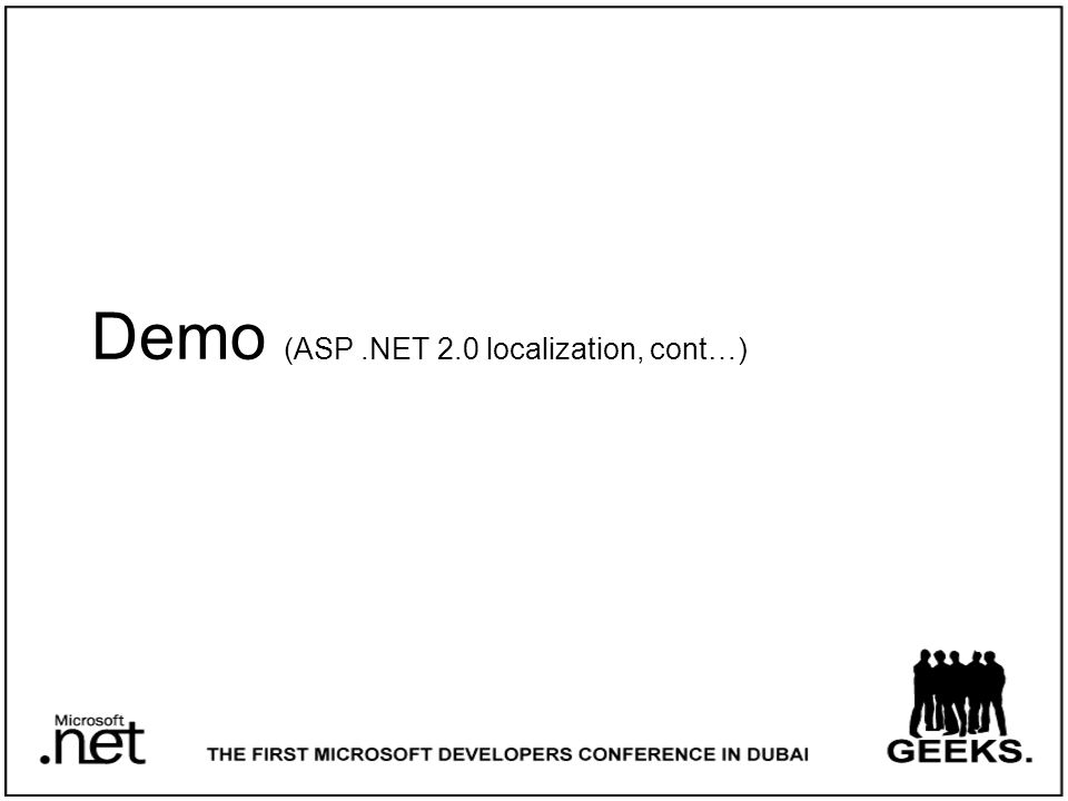 Demo (ASP.NET 2.0 localization, cont…)