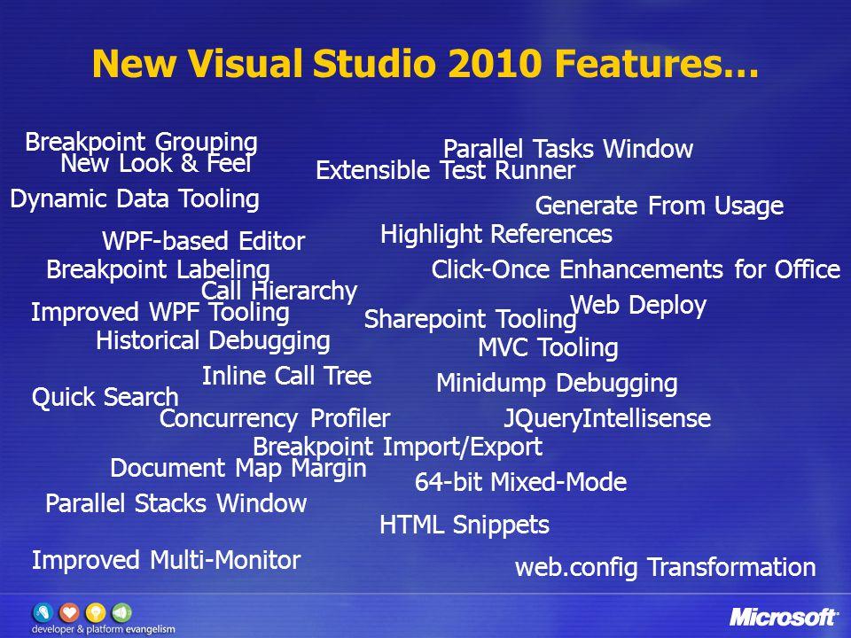 The Two Faces of Visual Studio 2010 Visual Studio As An Editor Visual Studio As A Platform