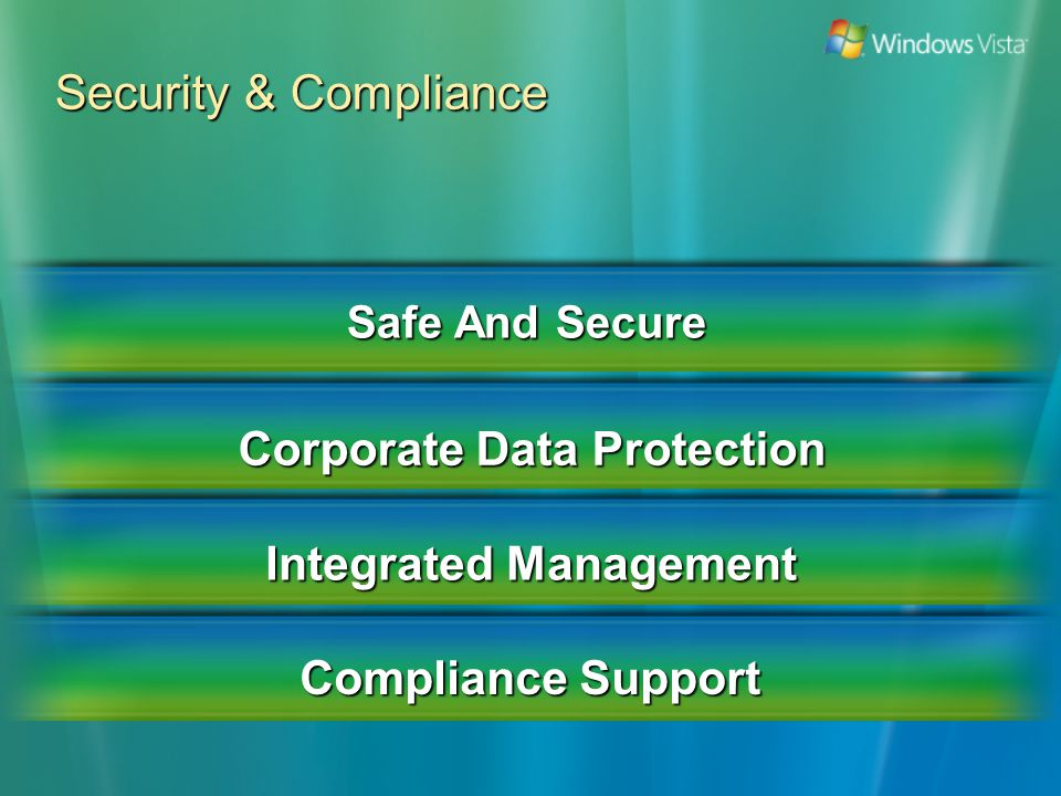 Security & Compliance Safe And Secure Corporate Data Protection Integrated Management Compliance Support