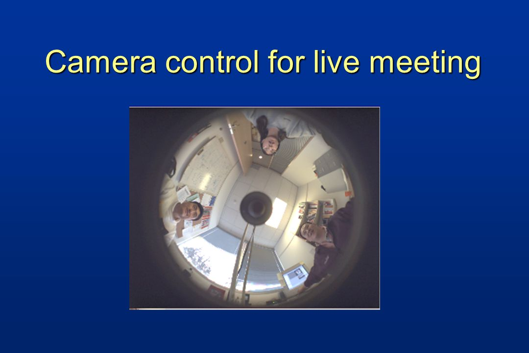 Camera control for live meeting