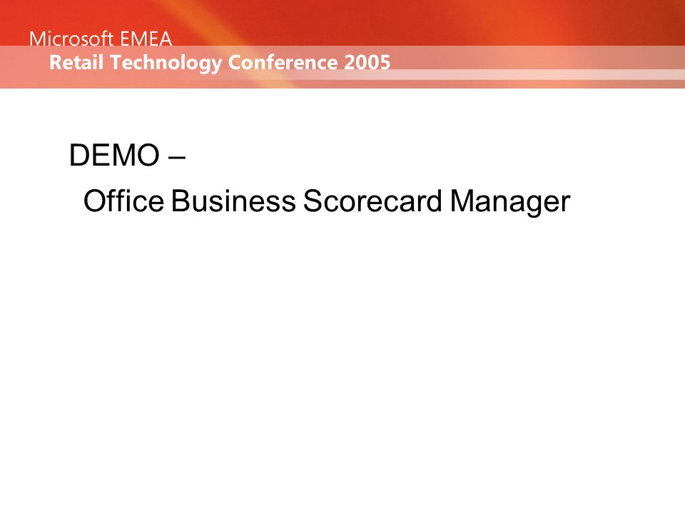 DEMO – Office Business Scorecard Manager