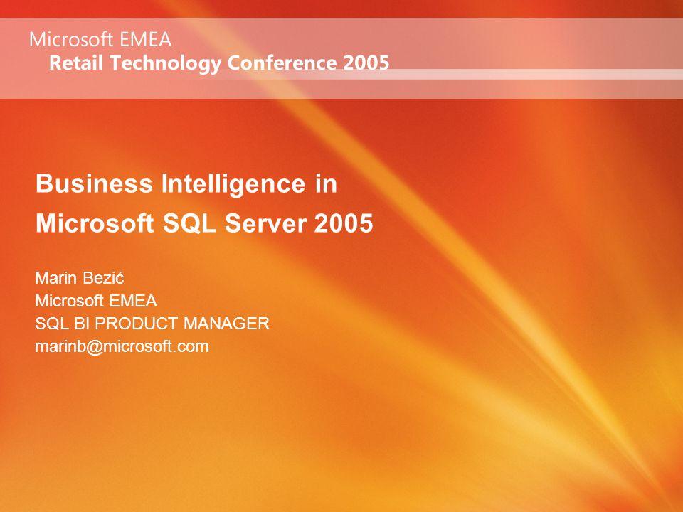 Agenda Overview of SQL Server 2005 Business Intelligence Vision Microsoft BI offering Integrate Report Analyze Office Business Scorecard Manager Demo!