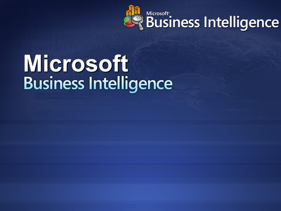 Business Intelligence Microsoft