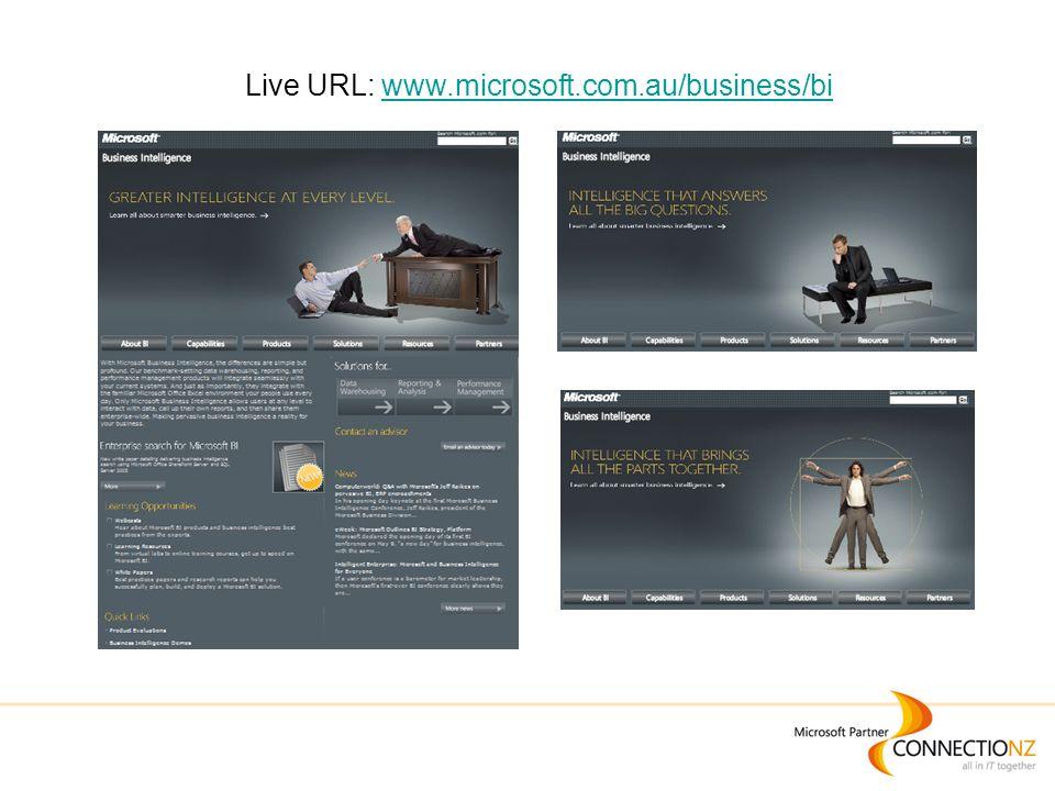 Live URL: www.microsoft.com.au/business/biwww.microsoft.com.au/business/bi