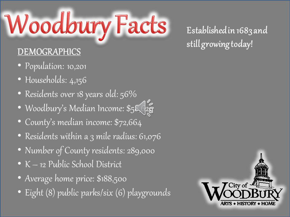 Within 2 sq. miles, the City of Woodbury has an eclectic mix of businesses. Woodbury is the home to Inspira Hospital with over 5000 employees. Woodbur