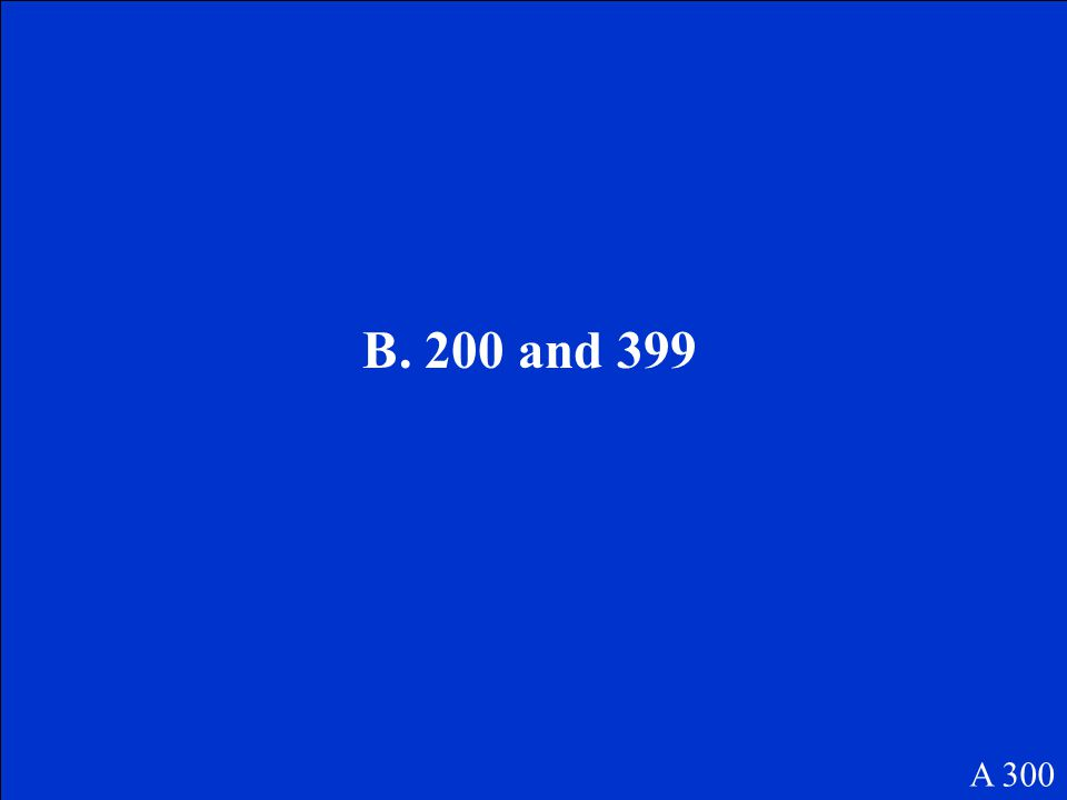 Estimate 518 - 263. The difference is between which numbers? A. 0 and 199 B. 200 and 399 C. 400 and 599 D. 600 and 799 A 300