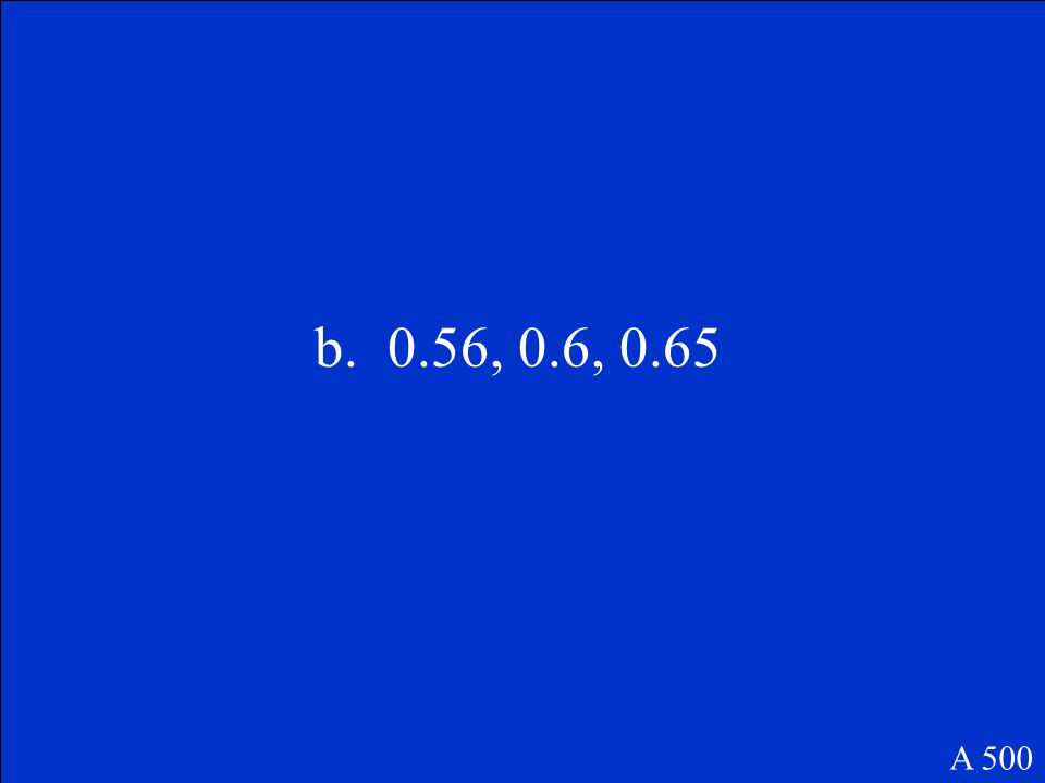 Which of the following shows the decimals in order from least to greatest.
