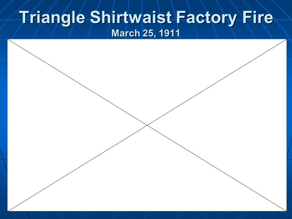 Triangle Shirtwaist Factory Fire March 25, 1911