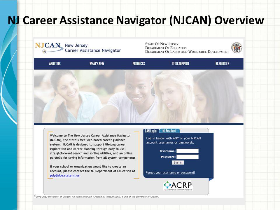 NJ Career Assistance Navigator (NJCAN) Overview