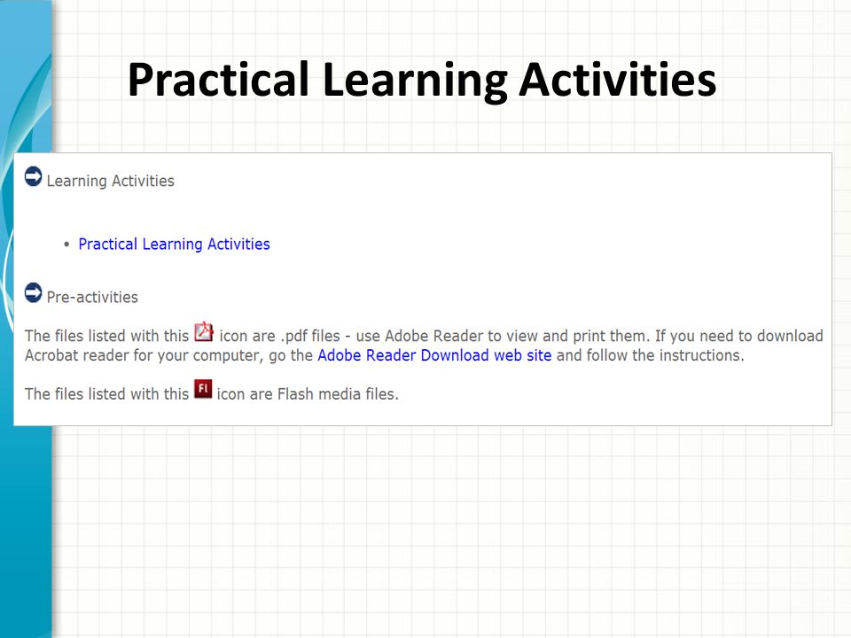 Practical Learning Activities
