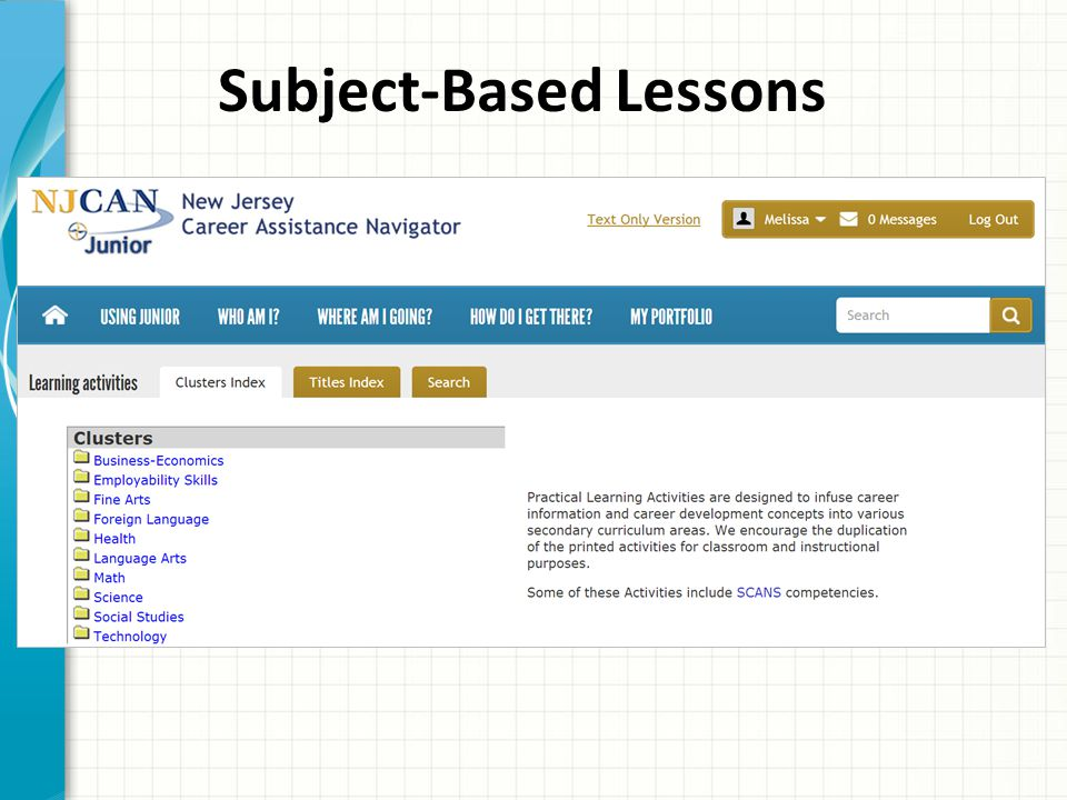 Subject-Based Lessons