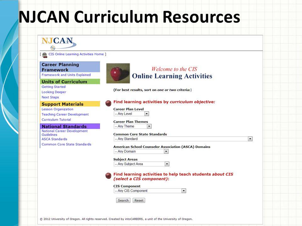 NJCAN Curriculum Resources