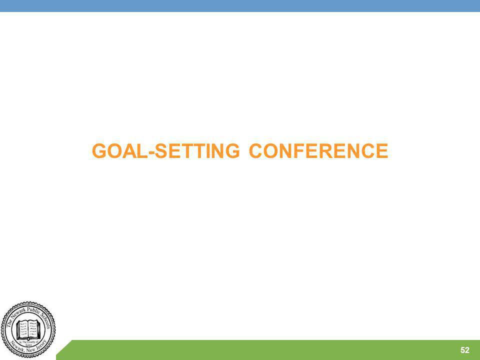 GOAL-SETTING CONFERENCE 52