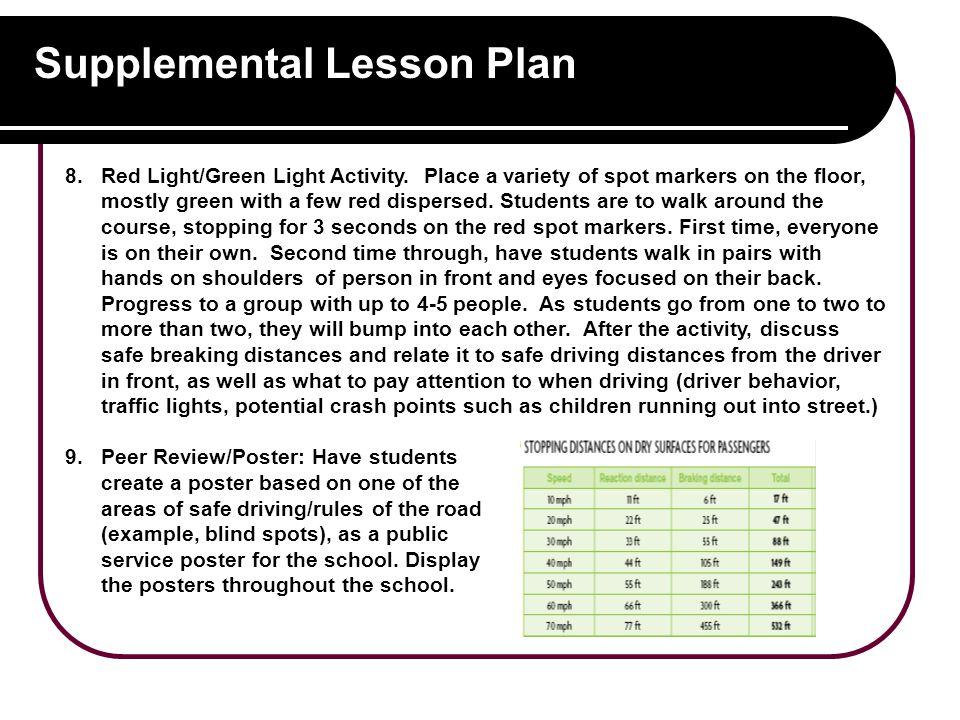 Supplemental Lesson Plan 8.Red Light/Green Light Activity.