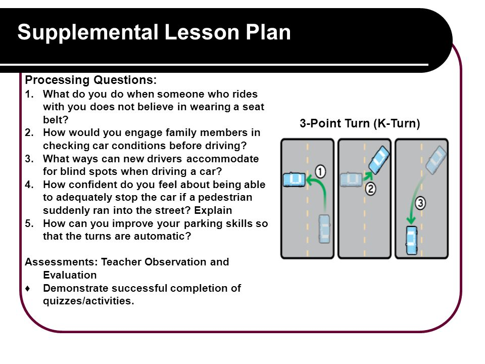 Supplemental Lesson Plan Processing Questions: 1.What do you do when someone who rides with you does not believe in wearing a seat belt.