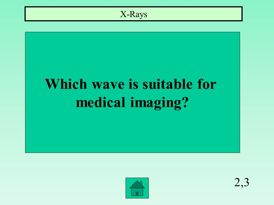 2,2 What is the shortest wavelengths of all waves Gamma Radiation