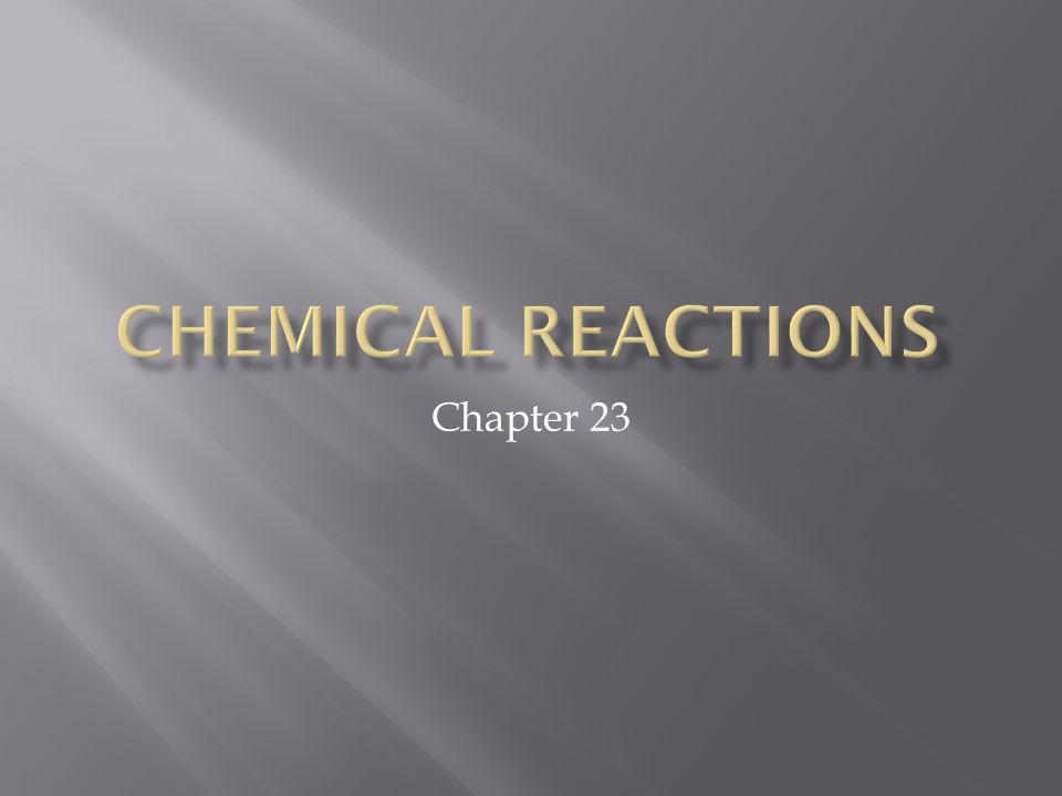  Before we being writing our chemical reactions, we need to first learn some of the basic terminology.