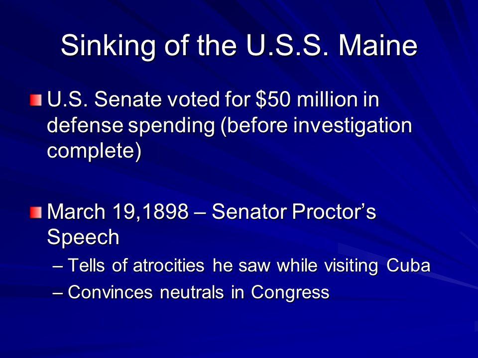 Sinking of the U.S.S. Maine U.S.