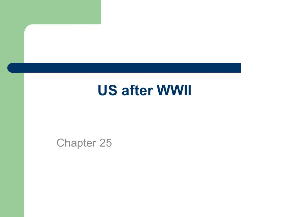 US after WWII Chapter 25