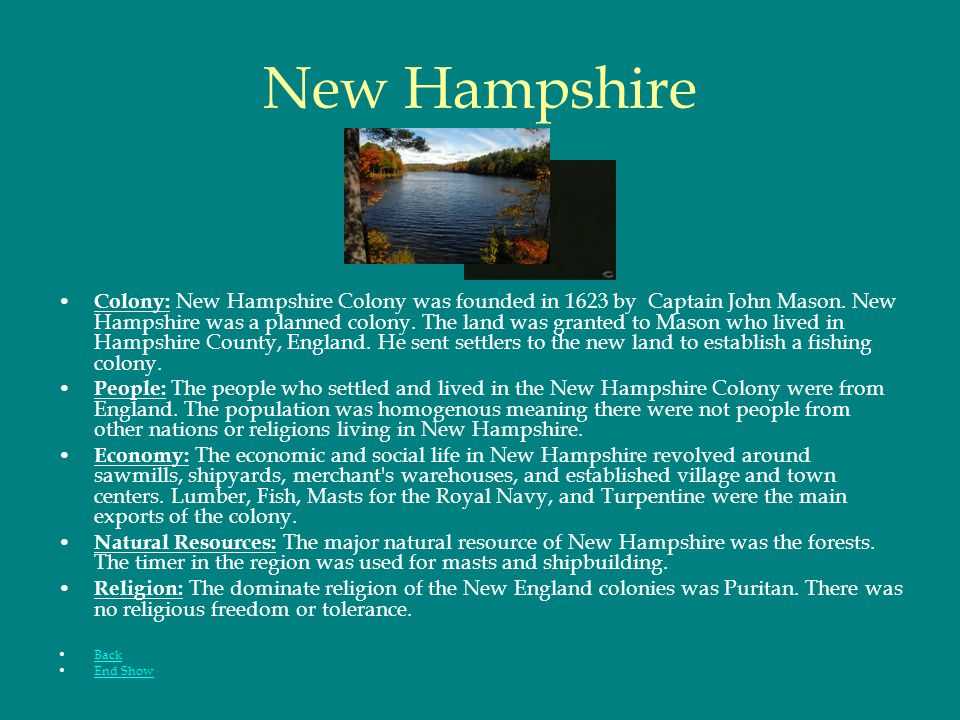 Massachusetts Colony : The Massachusetts Bay Colony was founded in 1620 by Separatists-Puritans.
