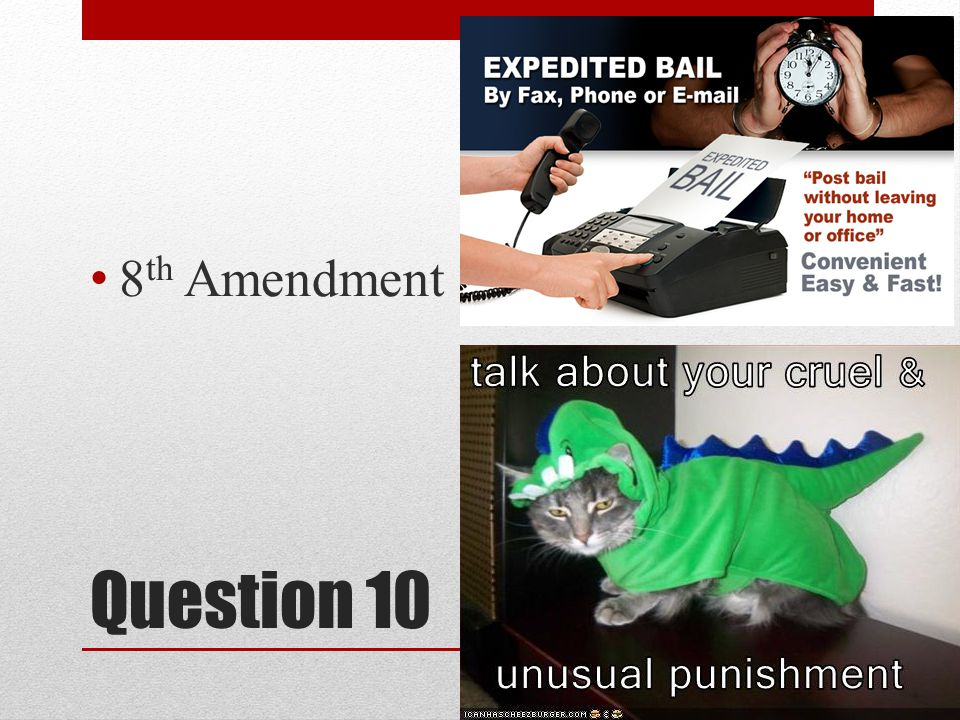 Question 10 8 th Amendment
