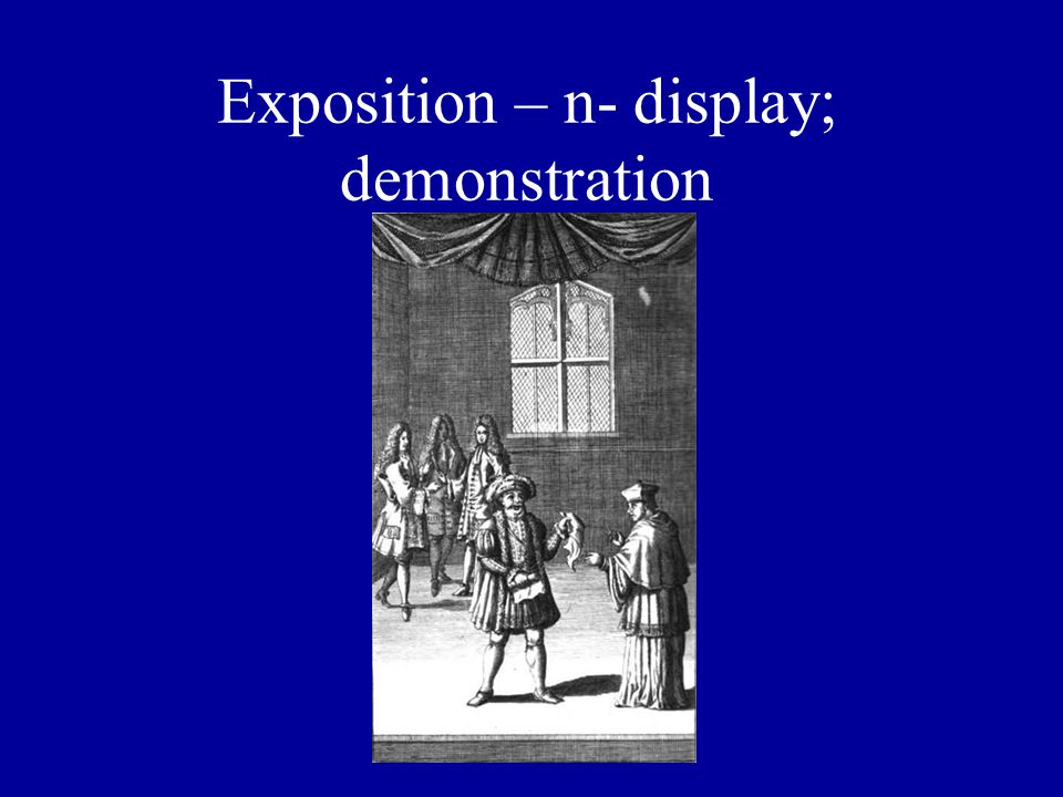 Exposition – n- display; demonstration