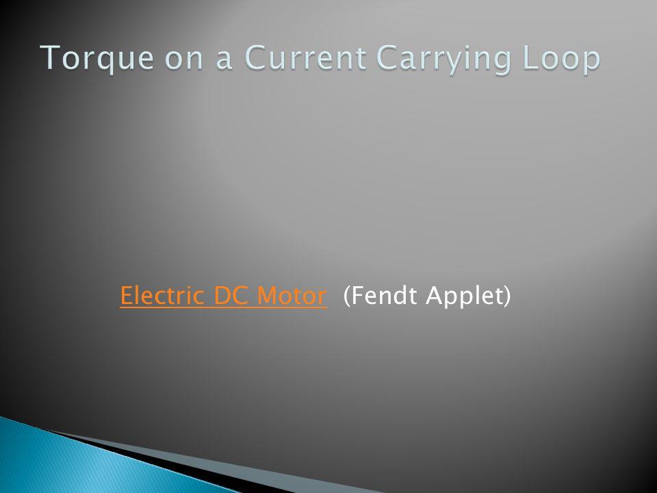 Electric DC Motor (Fendt Applet)Electric DC Motor