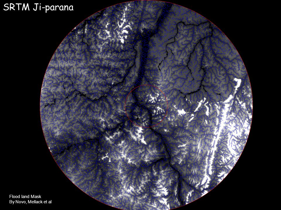 Flood land Mask By Novo, Mellack et al SRTM Ji-parana