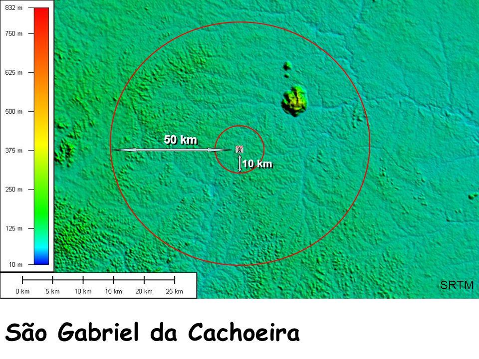 São Gabriel da Cachoeira SRTM 50 km 10 km