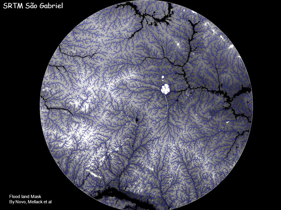 Flood land Mask By Novo, Mellack et al SRTM São Gabriel